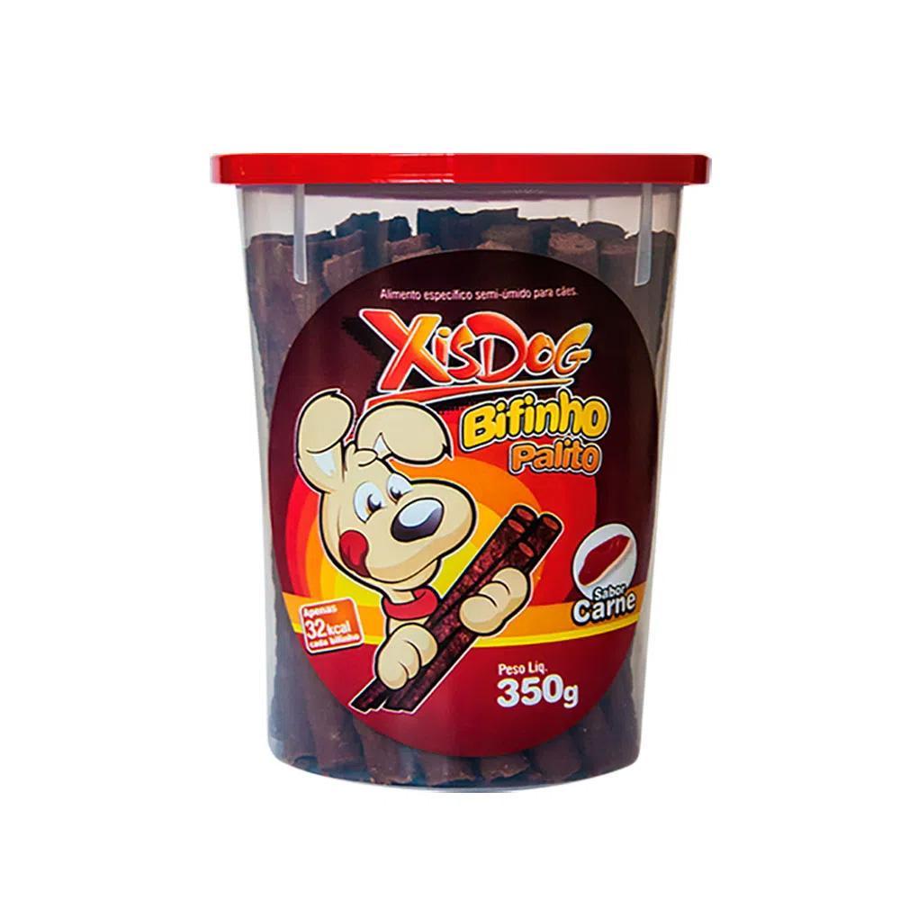 Petisco Palitinho De carne Para Cães Xisdog Bifinho em palito Pote 350g