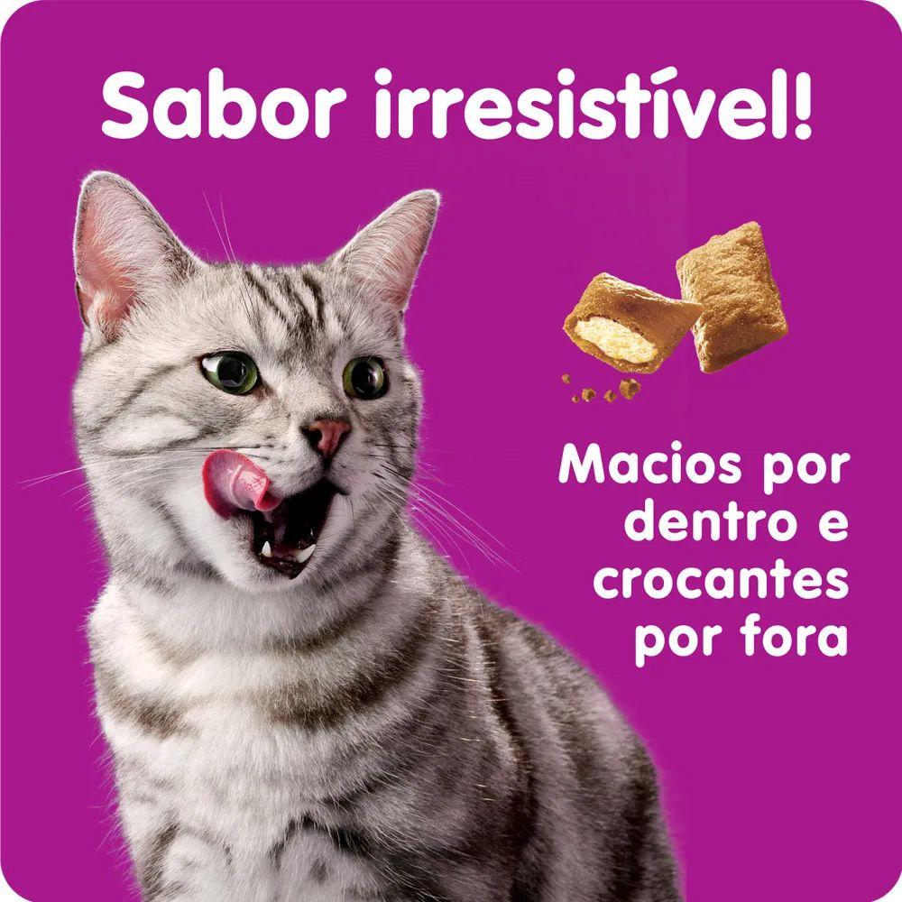Petisco Whiskas Temptations Pelo saudável para Gatos Adultos - 40 g Potinho formato de rosto de gato