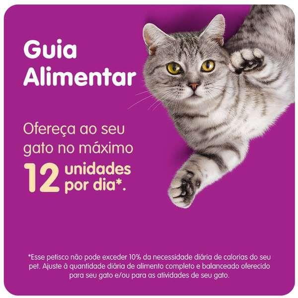 Petisco Whiskas Temptations Sabor Salmão para Gatos Adultos - 40 g Potinho formato de rosto de gato
