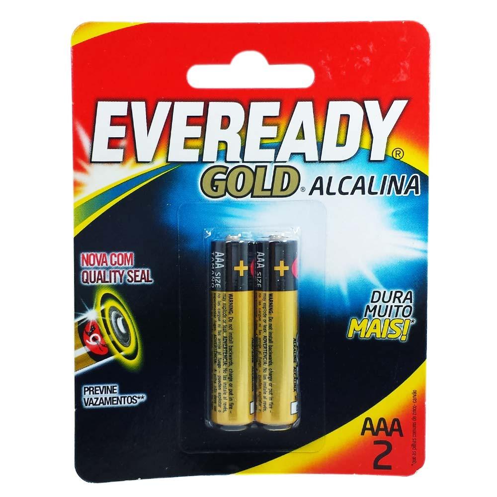 Pilha AAA 1.5V Alcalina Eveready Gold 2 unid.