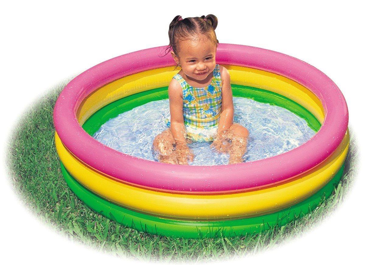 Piscina inflável banheira para Bebê Colorida Intex 56 Litros