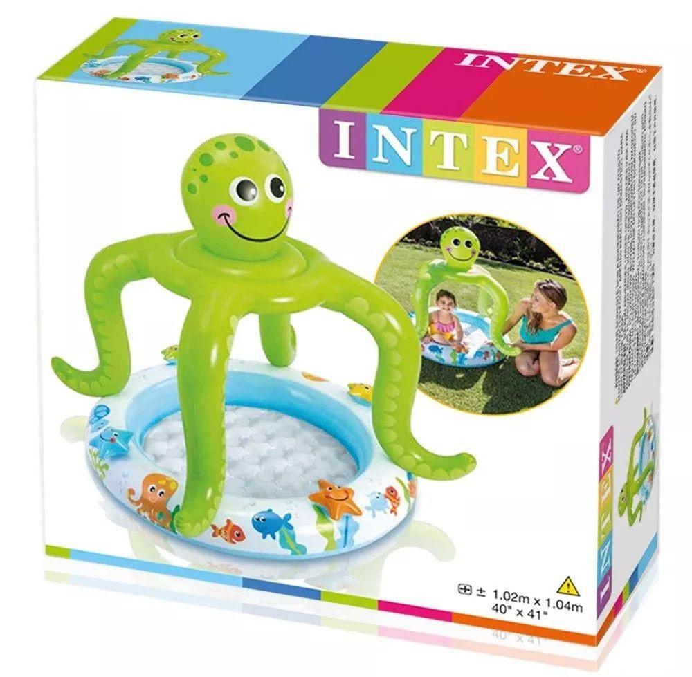 Piscina infantil Polvo com cobertura Intex 45 litros 57115