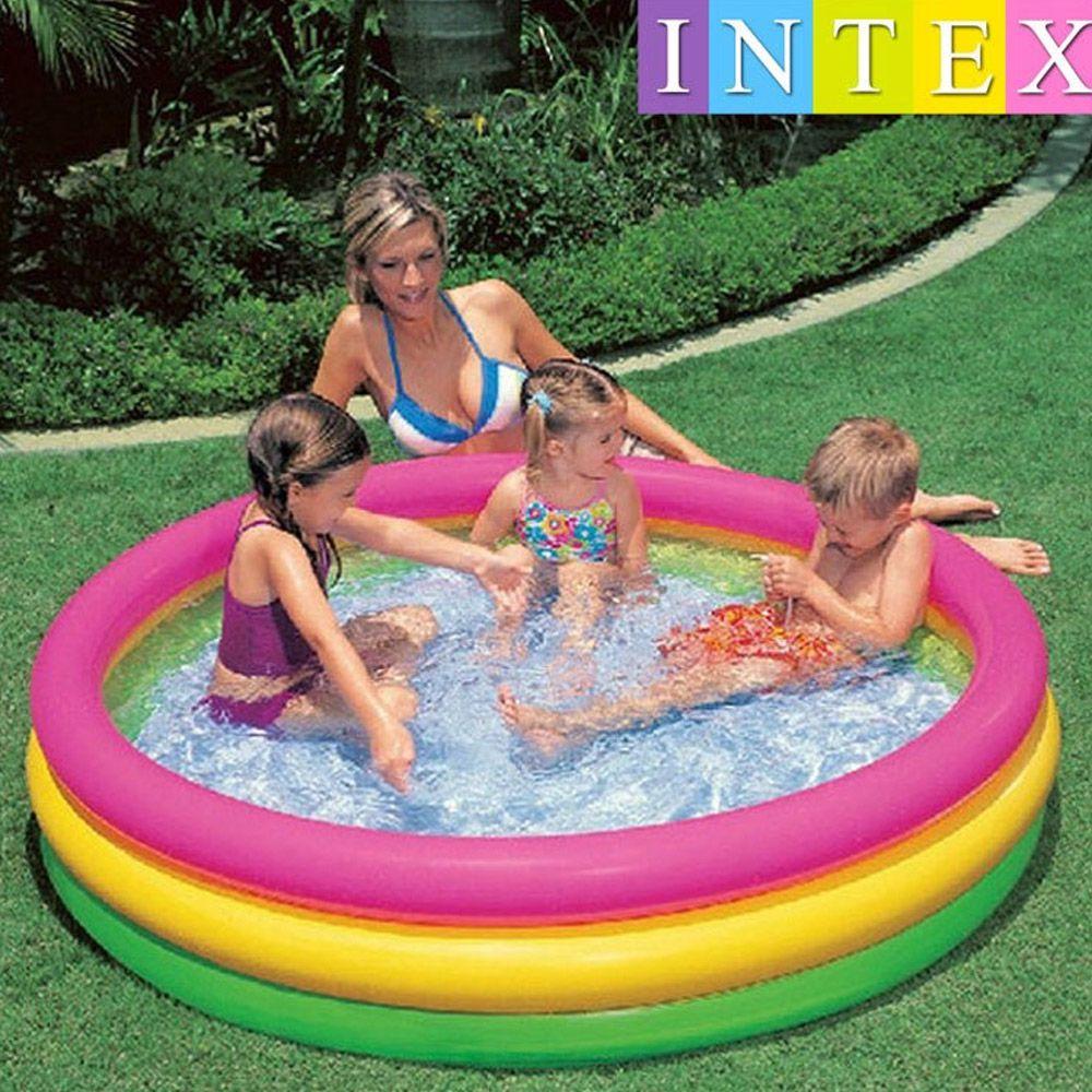 Piscina Inflável banheira para Criança 275 Litros Colorida Intex 57422 - Bordas e Fundo inflável 1,47m X 33cm