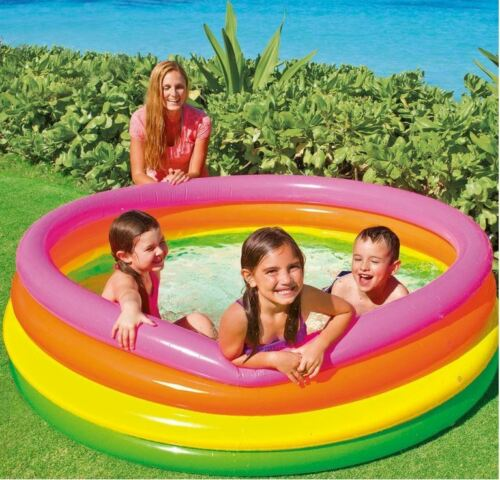 Piscina redonda inflável Colorida Intex 780 Litros 1,86cm