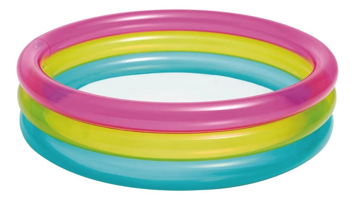 Piscina inflável Colorida para crianças 1 a 3 anos Intex 86cmx25cm 63 Litros 57104