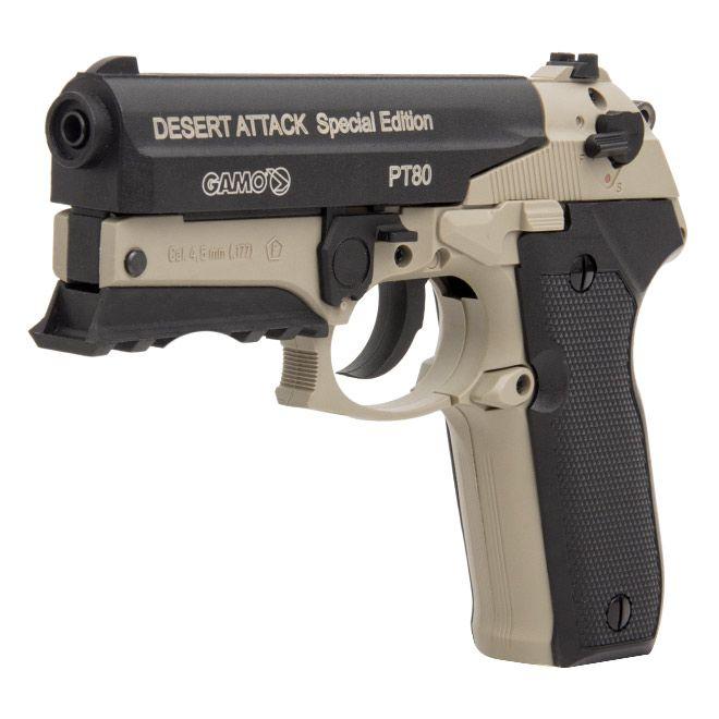 Pistola de Pressão CO2 Gamo PT-80 Desert Attack SE 4,5mm