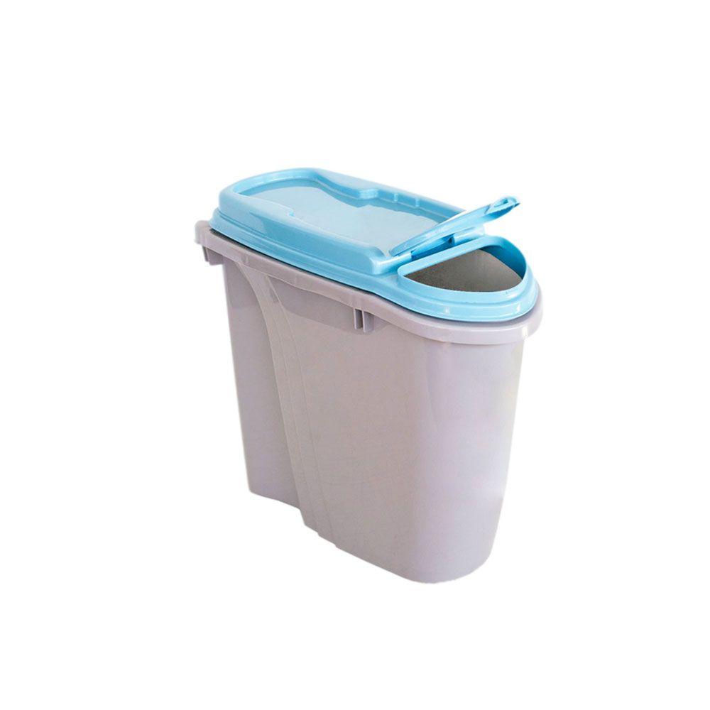 Compartimento Pote para ração - Porta Ração Dispenser Plast Pet 1,5L Azul
