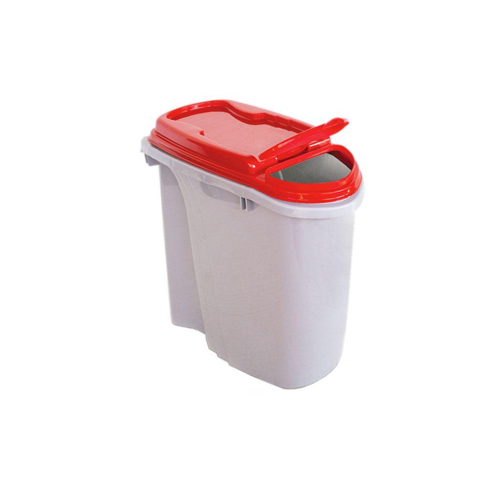Compartimento Pote para ração - Porta Ração Dispenser Plast Pet 1,5L Vermelho