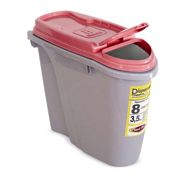 Compartimento Pote para ração - Porta Ração Dispenser Plast Pet 8L Vermelho