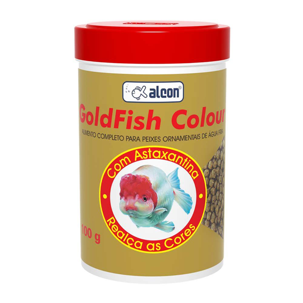 Ração para peixes de aquário Colour Alcon Gold Fish 100g - Alimento completo realçador de cor para peixes