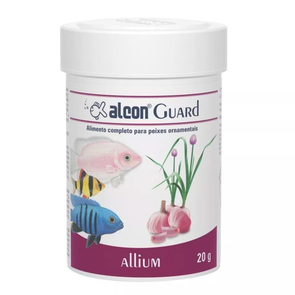 Ração para peixes de aquário Alimento completo ingredientes naturais Alcon Guard Allium 20g