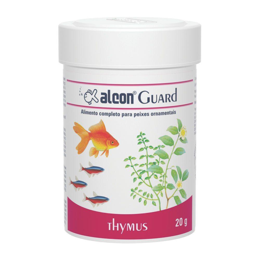 Ração para peixes de aquário Alimento completo ingredientes naturais Alcon Guard Thymus 20g