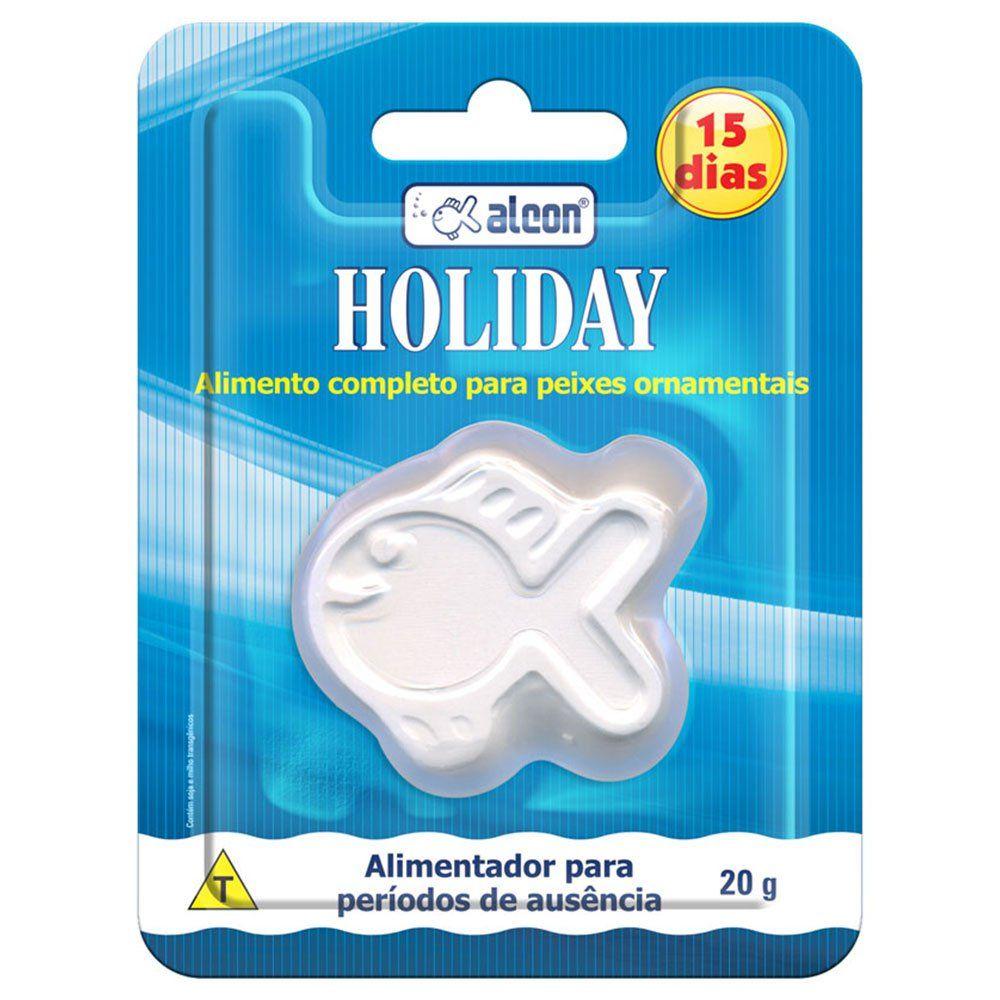 Alimento de férias para aquário, se dissolve na água - Ração para Peixes Alcon Holiday duração 15 dias 20g