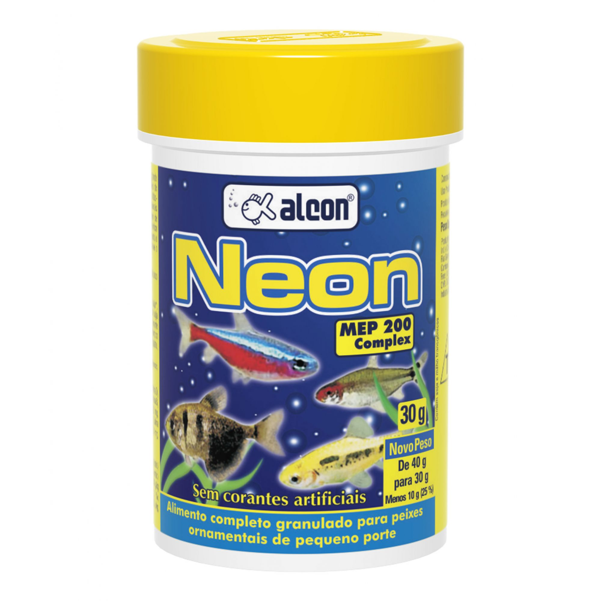 Alimento completo granulado para peixes de aquário realçador de cores em peixes Neon Alcon 30g