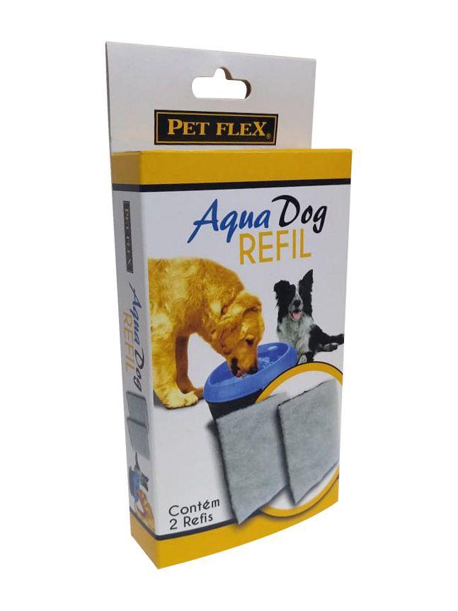 Refil do Filtro de carvão ativado para Fonte Bebedouro Aqua Dog 6 Litros Pet Flex - Caixa com 2 unidades