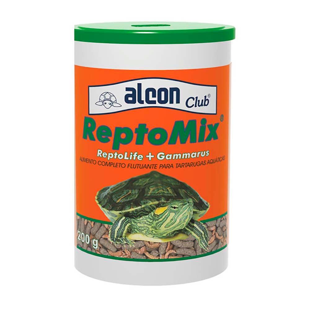 Alimento Para Tartarugas Aquáticas Reptomix 200g Alcon (Mix de Ração Reptolife + Gammarus)
