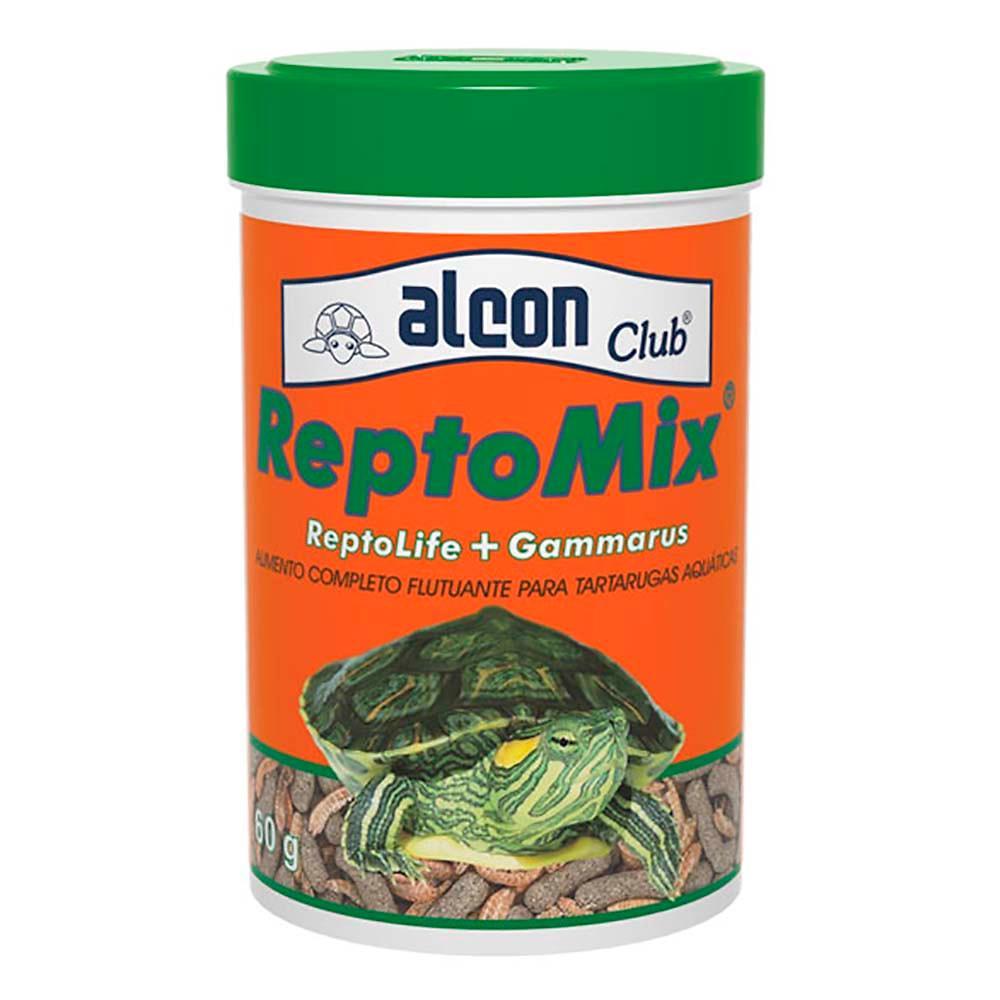 Alimento Para Tartarugas Aquáticas Reptomix 60g Alcon (Mix de Ração Reptolife + Gammarus)