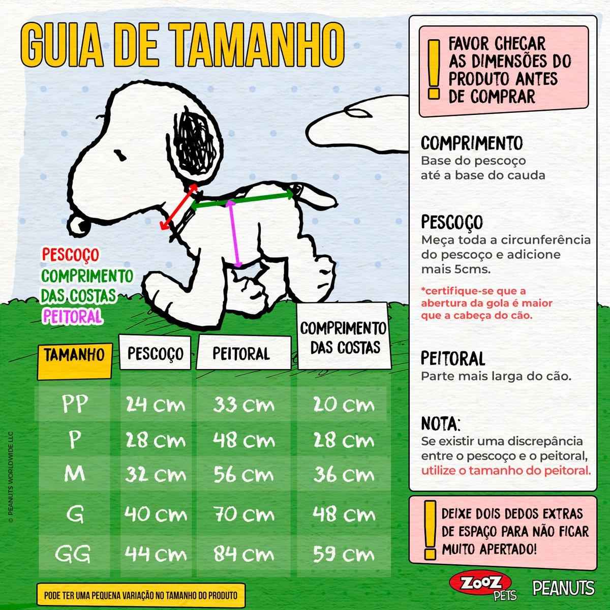 Roupinha Moletom para cães modelo Snoopy Charlie Brown Hug Jade com Capuz Zooz Pets