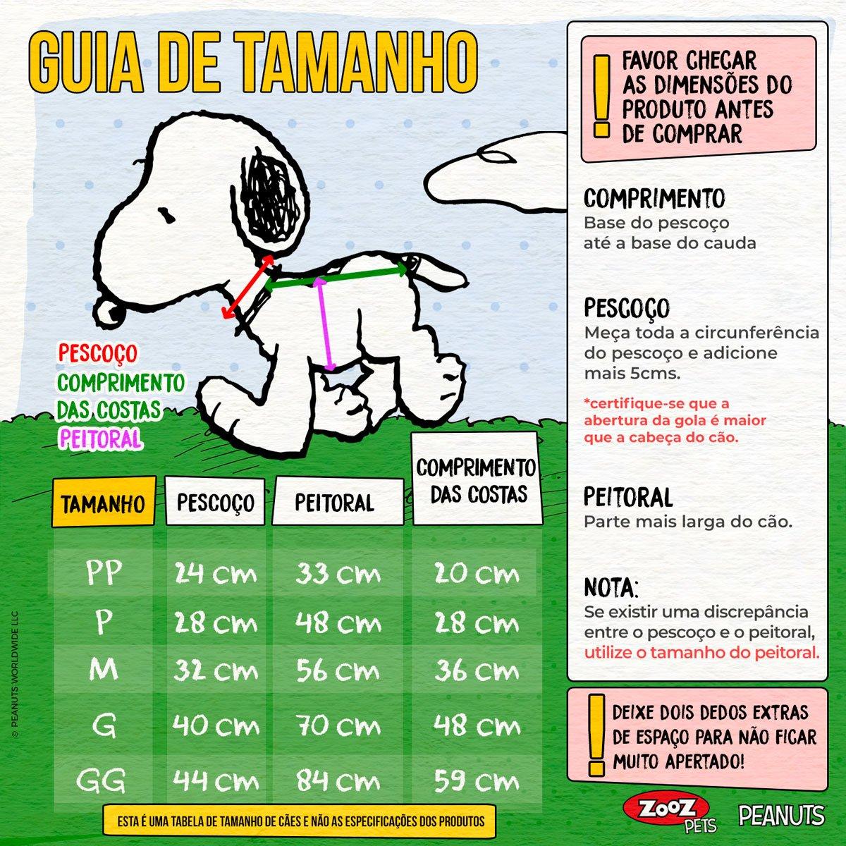 Roupinha Moletom para cães modelo Snoopy Sleeping com Capuz Zooz Pets