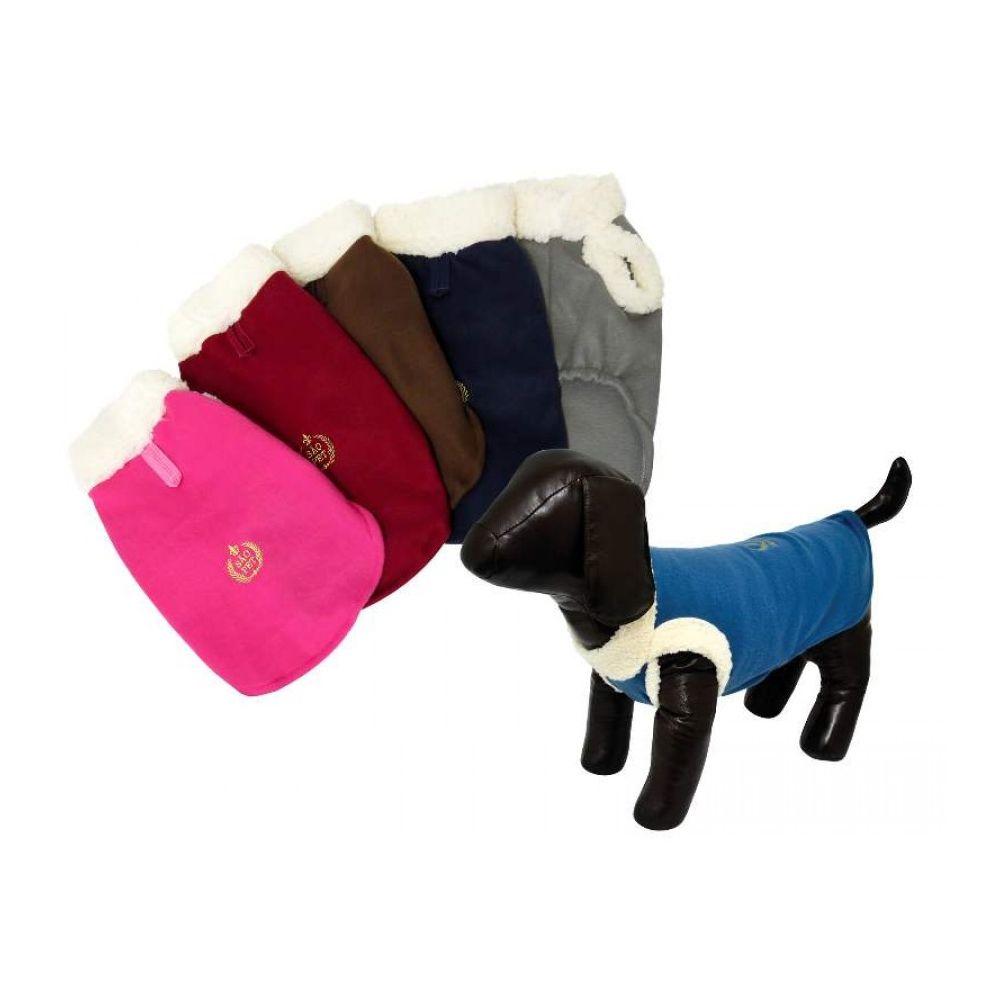 Roupinha para cachorro ou gato - Soft com pelúcia nas mangas e gola São Pet N. 20 Medidas: 53cm X 62cm