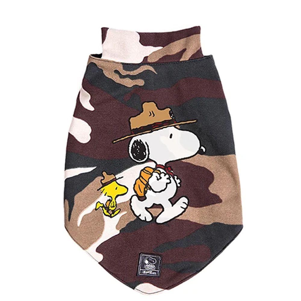 Roupinha para Cachorro tipo Colete Forrado Snoopy Camuflado Super confortável e quentinho - Snoopy Zooz Pets