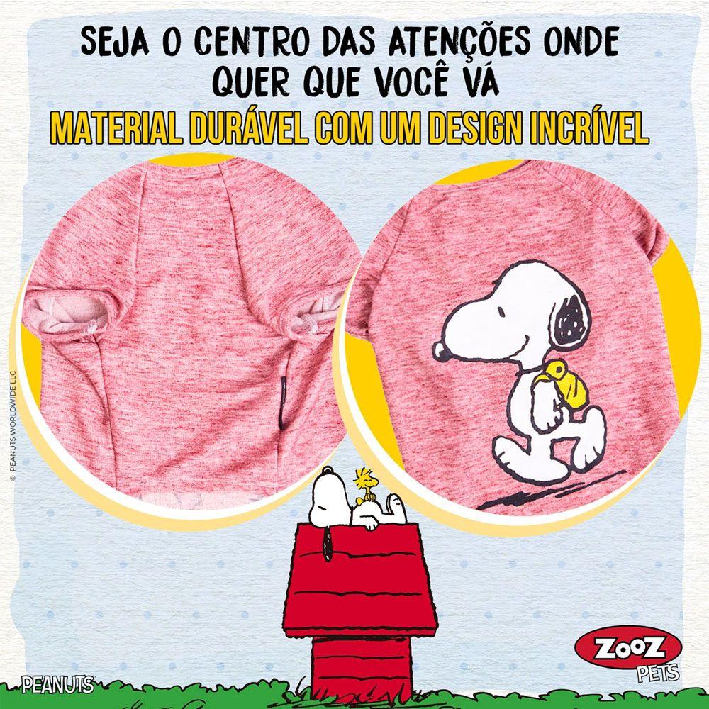 Roupinha para cães - Camiseta de inverno para cachorro Snoopy Back Pack Hike ZooZ Pets Vinho G