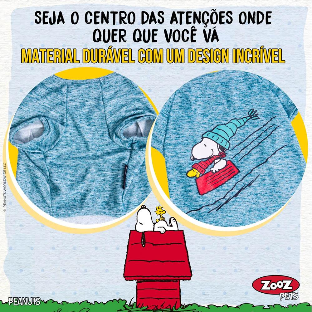 Roupinha para cães Camiseta de inverno para cachorro Snoopy Wood Bowl Slide Zooz Pets