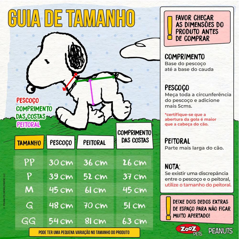 Roupinha para cães - Camiseta de inverno para cachorro Snoopy Wood Bowl Slide ZooZ Pets G