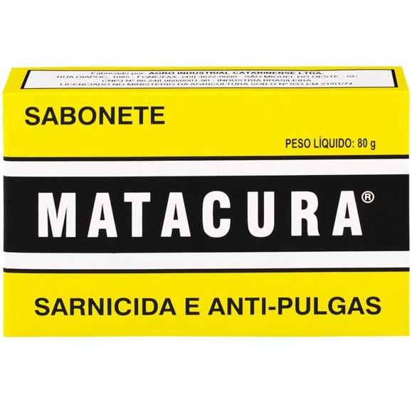 Sabonete Antibacteriano Matacura Sarnicida e Anti-pulgas 80g