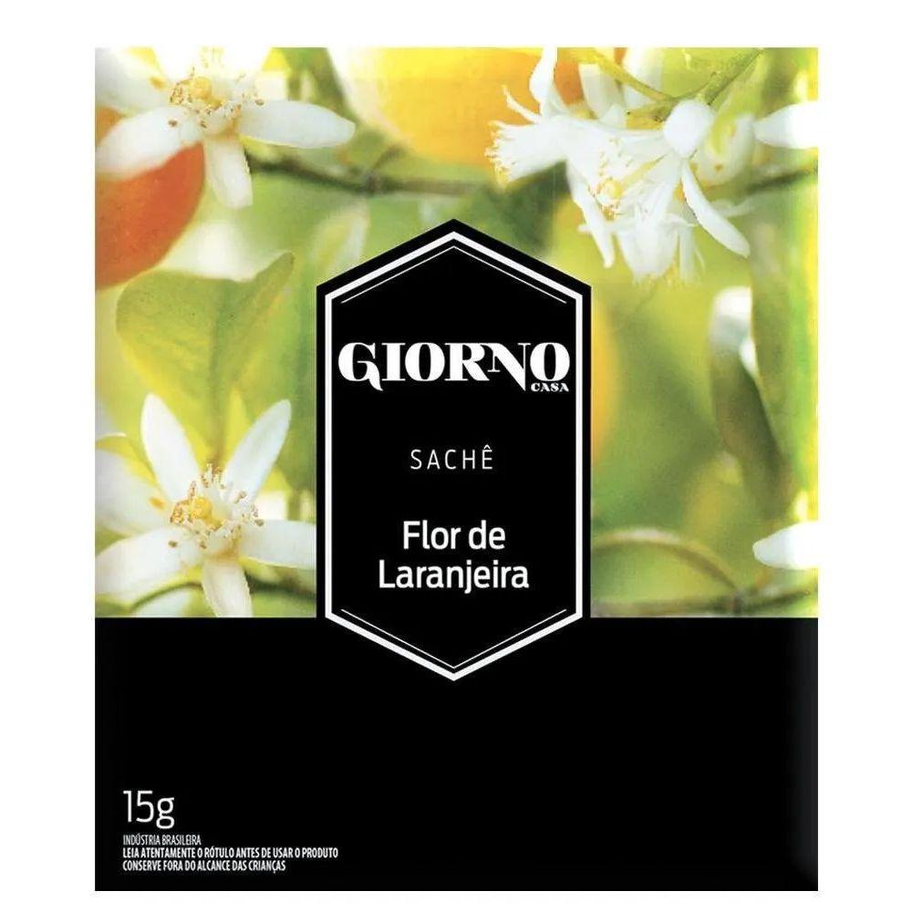 Sachê Perfumado para Ambiente Flor de Laranjeira - Difusor aromatizador para ambiente, gavetas, armários Giorno 15g - Kit com 2