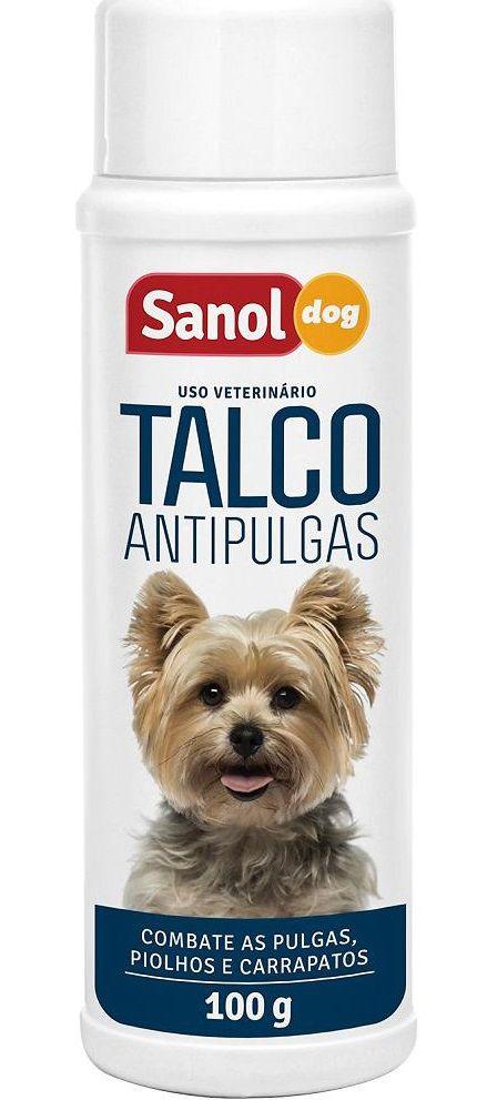 Kit para cães: Shampoo para cachorro Anti pulgas + Talco Anti pulgas + Limpa Orelhas  Sanol