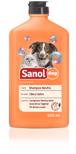 Shampoo para Cachorro Sanol Neutro 500ml