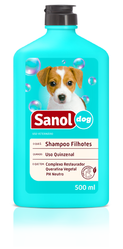 Shampoo para Cachorros Filhotes Sanol Dog - Shampoo Cães Filhotes Baby 500ml