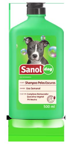 Shampoo cachorro pelos escuros - Shampoo para cães pelagem escura Sanol Dog 500ml