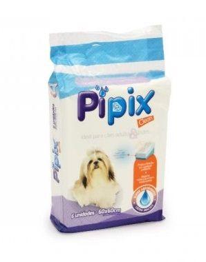 Tapete Higiênico para Cães e Gatos Pipix Clean 6 unidades 60x60cm
