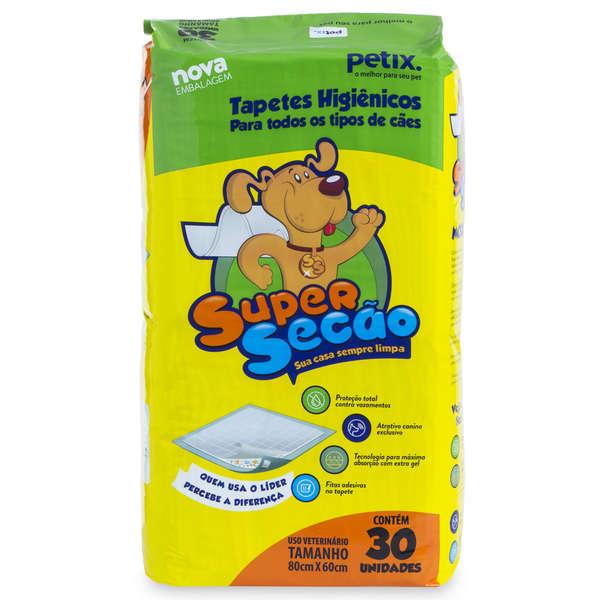 Tapete Higiênico para Cachorro Super Secão 30 Unidades