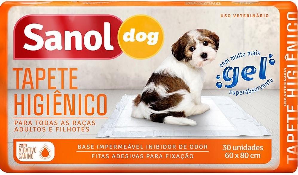 Combo 3 Tapete Higiênico descartável para cães 30 un cada, 6 Educador canino Stop Dog (xixi não pode) Sanol