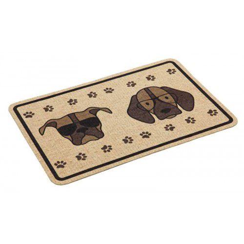 Tapete tipo Capacho ou Jogo Americano para cães e gatos anti-derrapante 40x60cm estampa Cachorros de Óculos