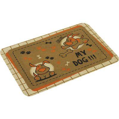 Tapete tipo Capacho ou Jogo Americano para cães e gatos anti-derrapante 40x60cm estampa Cachorros My Dog