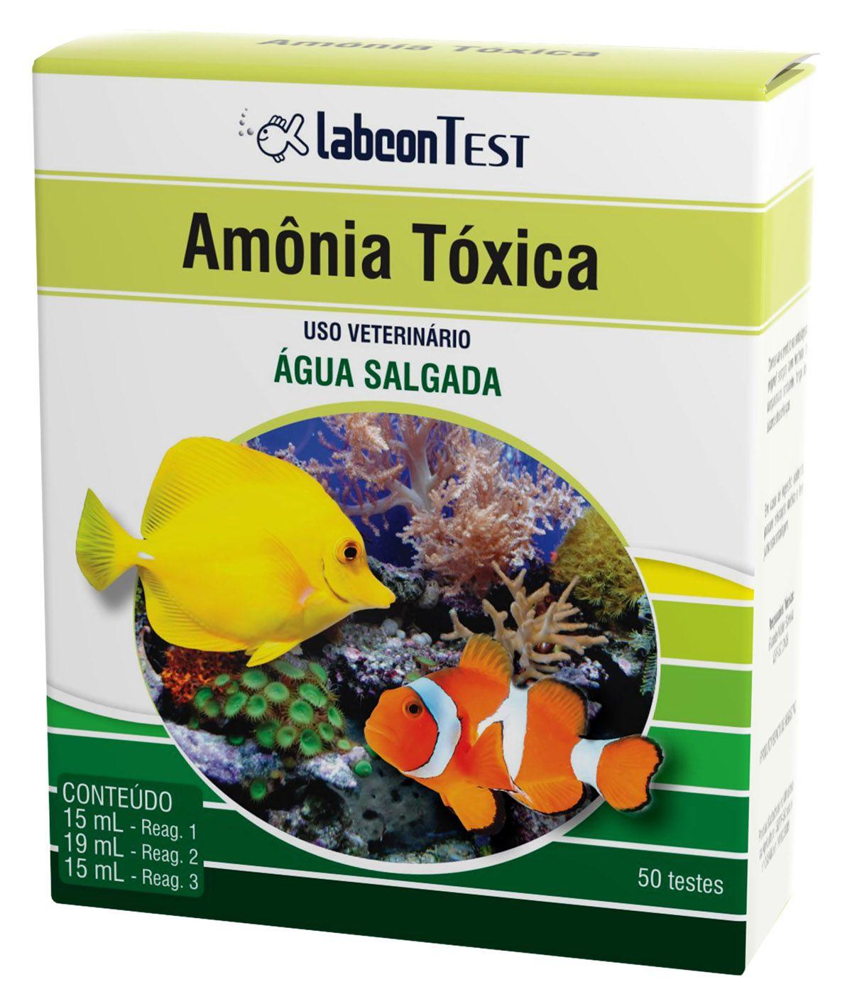 Teste Amônia Tóxica para Aquários Marinhos Água Salgada Labcon