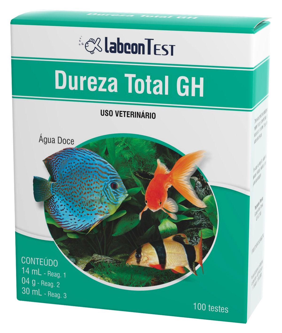 Teste de Dureza Total GH Aquario Água Doce Alcon Labcon 100 testes