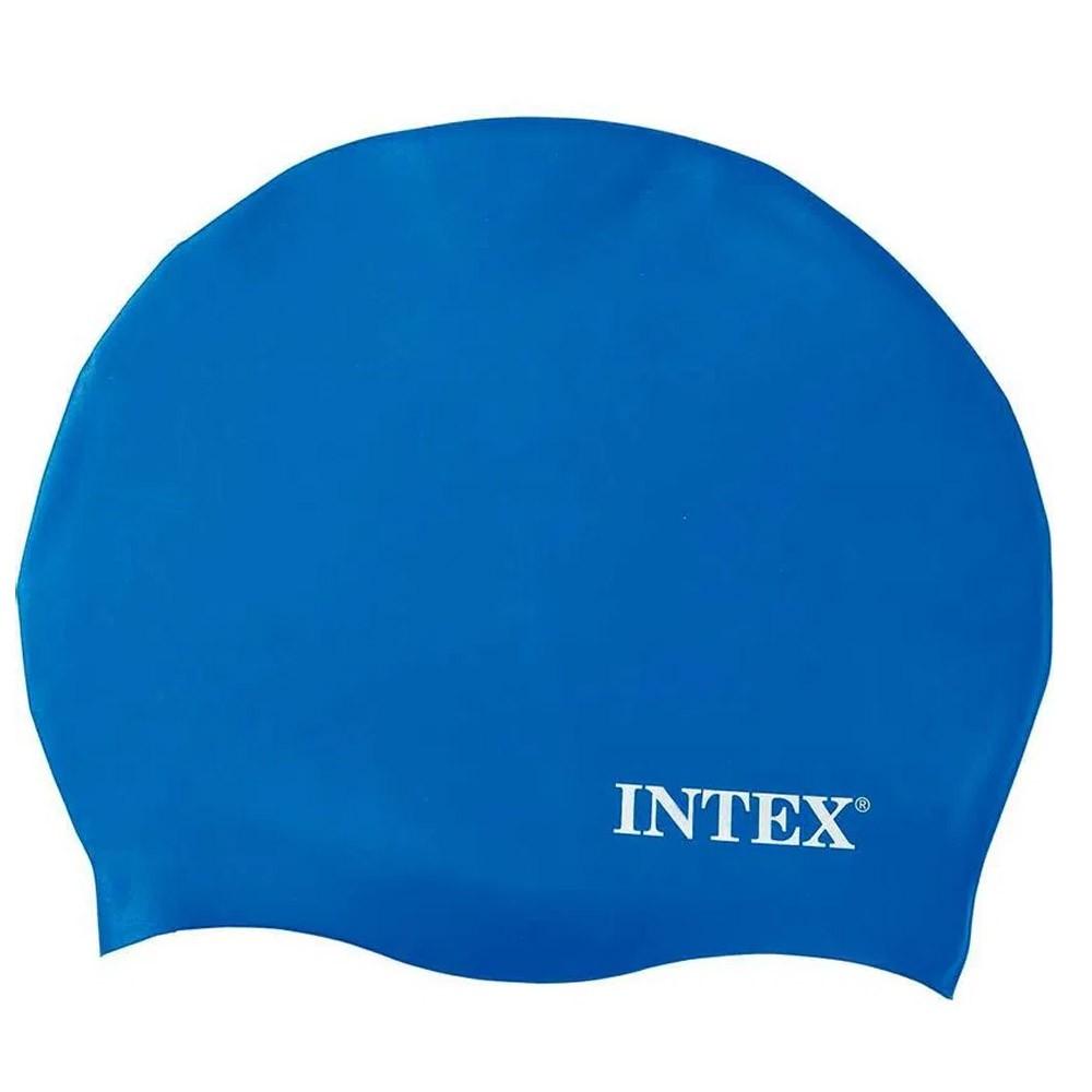 Touca de silicone para mergulho, natação Intex Azul