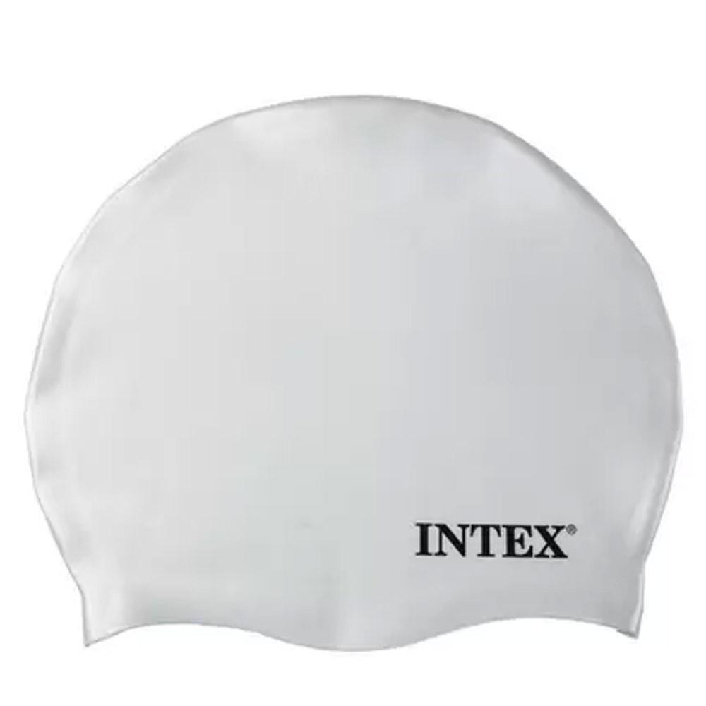 Touca de silicone para mergulho, natação Intex Branca