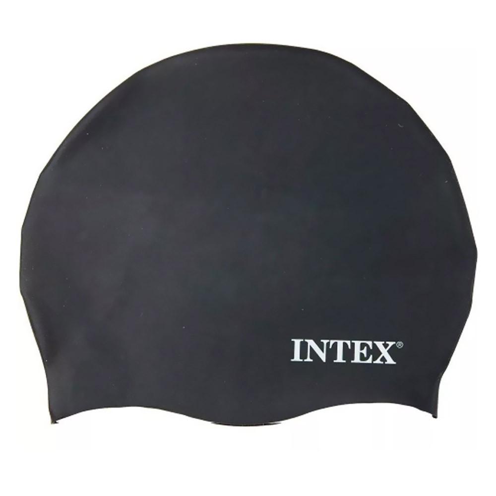 Touca de silicone para mergulho, natação Intex Preta