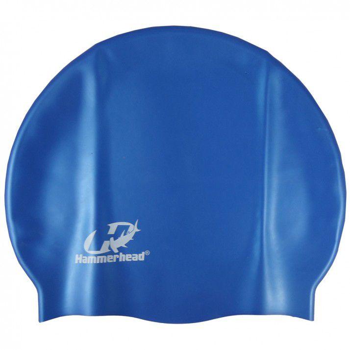 Touca para natação de Silicone HammerHead Lisa Azul