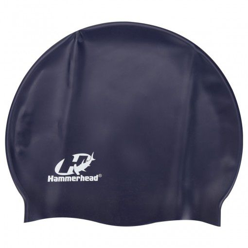 Touca para natação de Silicone HammerHead Lisa Azul Marinho