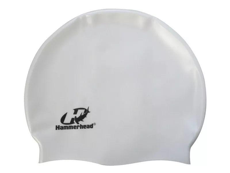 Touca para natação de Silicone HammerHead Lisa Branco
