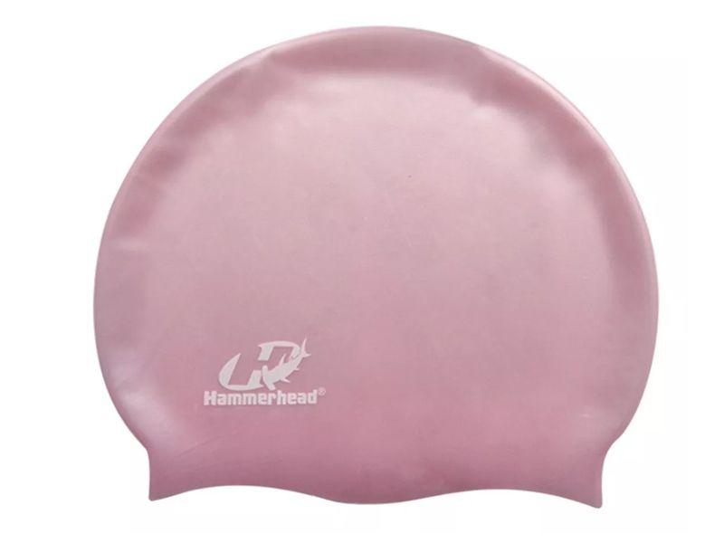 Touca para natação de Silicone HammerHead Lisa Rosa
