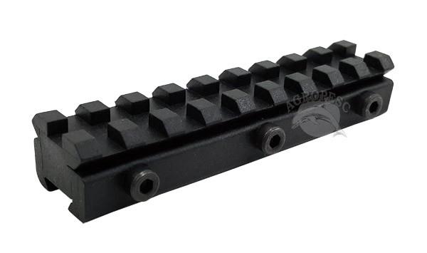 Trilho Picatinny Preto CBC 11mm para 20mm