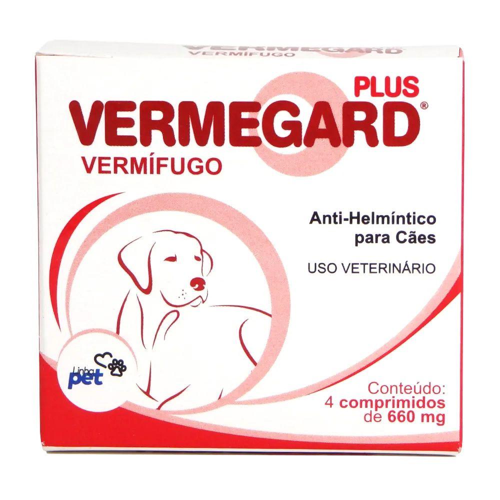 Vermífugo para cachorro Vermegard Plus Anti-helmíntico para cães 4 comp 660mg